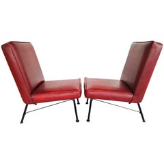 Pair of French Lounge Chairs, 1950s