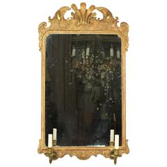 Early 18th Century George I Giltwood Pier Mirror