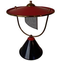 1940 Table Lamp Mathieu Mattegot Black Red/pink
