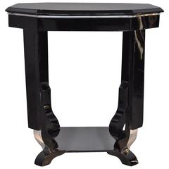 Octagonal Art Deco Style Side Table