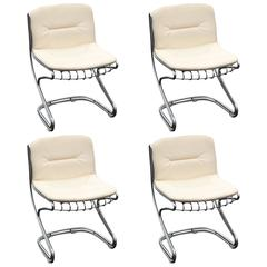 Set of Four Chic Italian Mid-Century Modern Gastone Rinaldi Dining Chairs