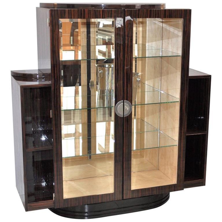 Art deco vitrine made of macassar for sale at 1stdibs - Vitrine modern ...
