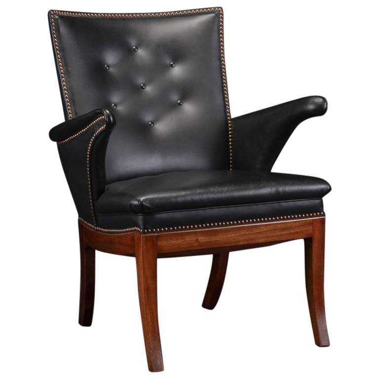 Frits Henningsen 1930s Easy Chair in Cuban Mahogany