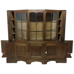 An Important Breakfront Bookcase/Cabinet designed by E Barnsley, Exhibited 1982.