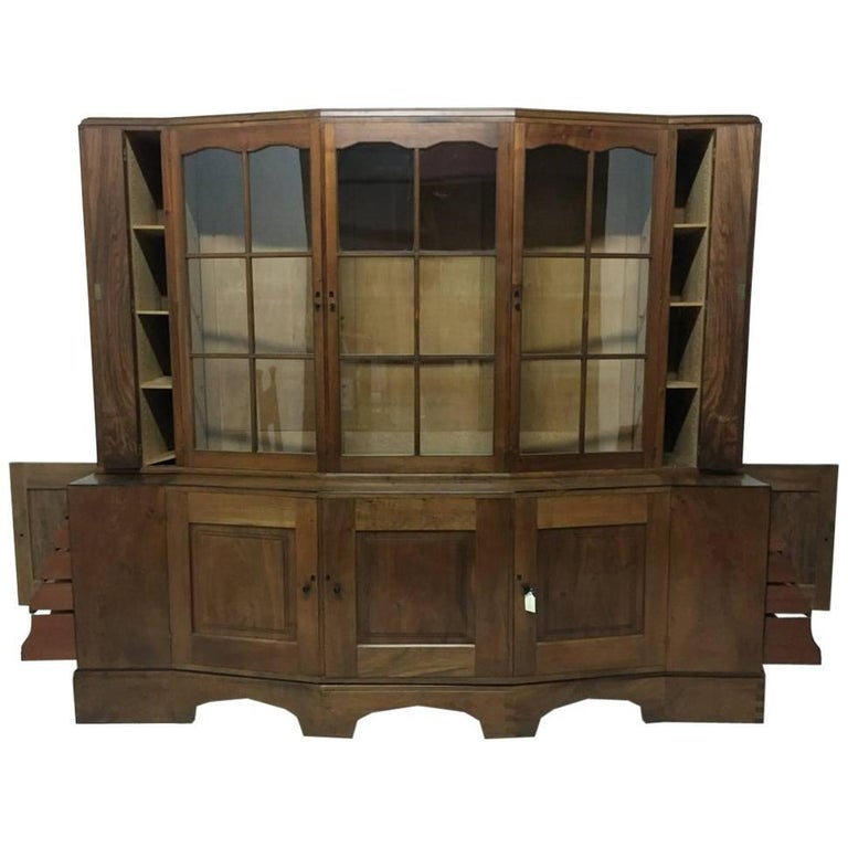 An Important Breakfront Bookcase/Cabinet designed by E Barnsley, Exhibited 1982. For Sale