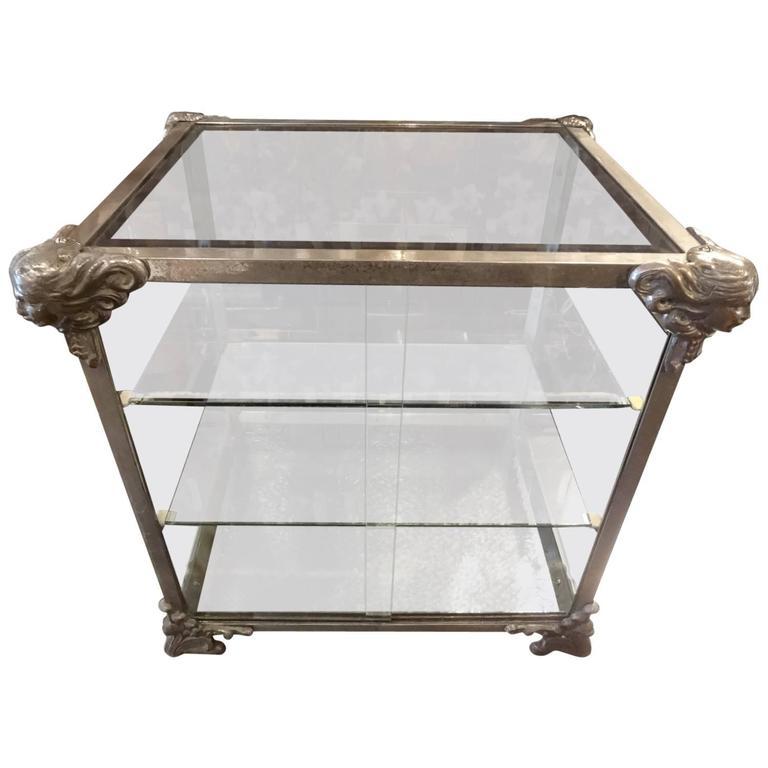 Late 19th Century Art Nouveau Vitrine Display Cabinet