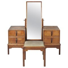 Oak Dressing Table and Stool, by Gordon Russell