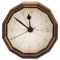 Hugh Birkett. A little Clock, hand crafted with various specimen & exotic woods