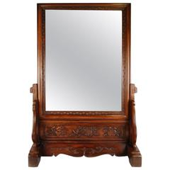19th Century Chinese Table Screen with Mirror