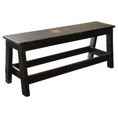 Vintage Industrial Low Work Bench, Wooden Table