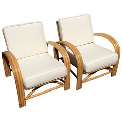 Pair of Mid-Century Bamboo Club Chairs