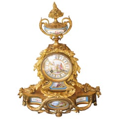 19th Century Louis XV Style Mantel Clock