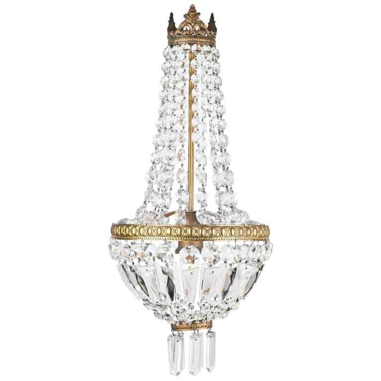 1910 french empire style crystal chandelier for sale at 1stdibs 1910 french empire style crystal chandelier for sale aloadofball