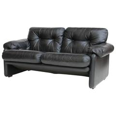 coronado black leather loveseat by tobia scarpa for bampb italia bb italy furniture