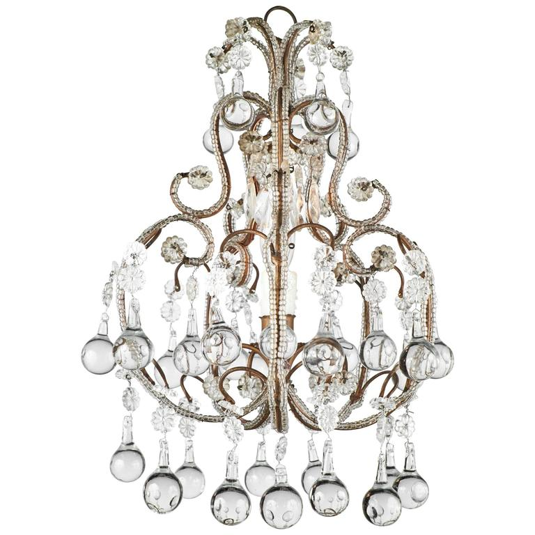Antique italian crystal chandelier at 1stdibs antique italian crystal chandelier for sale aloadofball Gallery