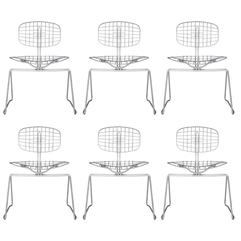 Michel Cadestin, Set of Six Chairs Awarded by Jean Prouvé for Beaubourg Museum