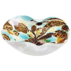 Dino Martens Pastel Colors, Silver Flecks and Tortoiseshell Murano Glass Bow