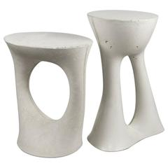 Pair of Modern Concrete Kreten Side Tables in Grey from Souda, Cast Cement