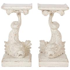 Antique Carved Dolphin Fish Tables