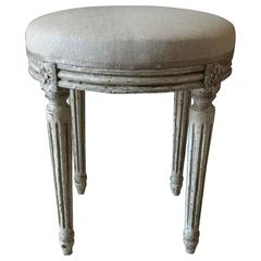 Louis XVI Style Painted Round Footstool