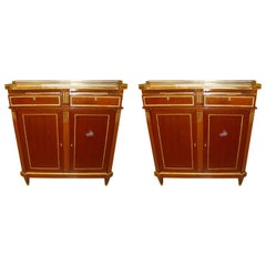 Pair of Maison Jansen Russian Neoclassical Style Cabinets