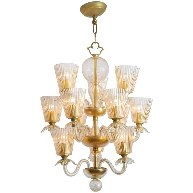 Chandelier Attributed to Venini
