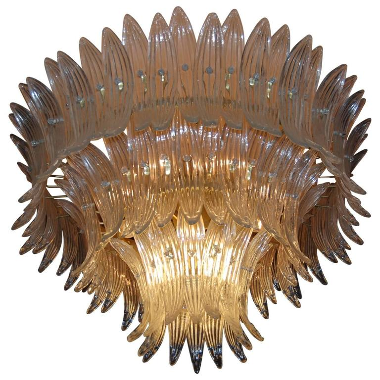 Spectacular Palmette Chandelier by Barovier & Toso, 1960s