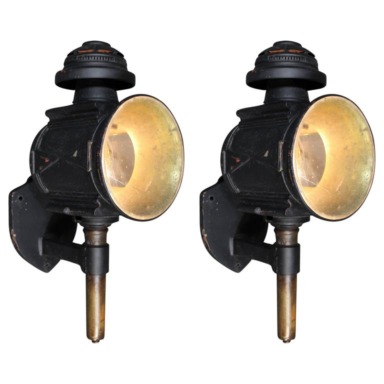 Pair of 19th Century Carriage Lights or Lanterns