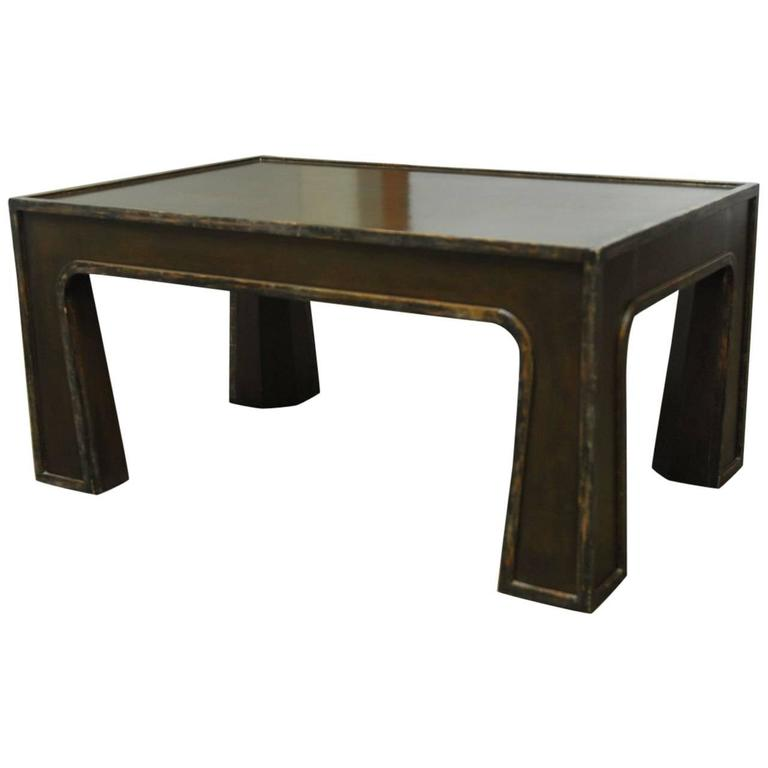 Chinese Modern Lacquered Coffee Table For Sale