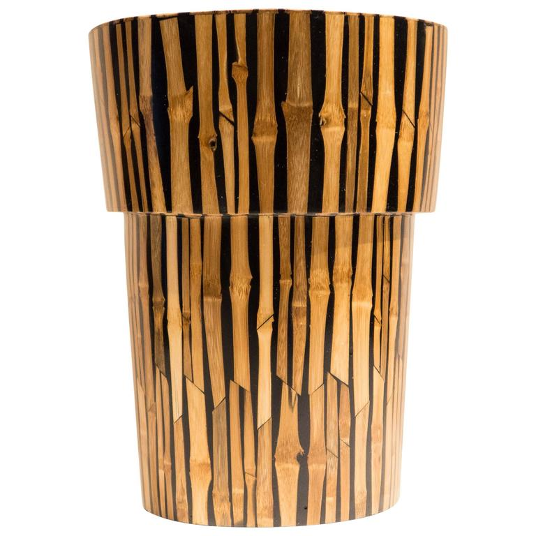 R And Y Augousti Bamboo Vase For Sale At 1stdibs