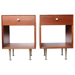Pair of Thin Edge Nightstands by George Nelson