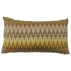 19th Century Italian Bargello Embroidery Bolster Decorative Pillow