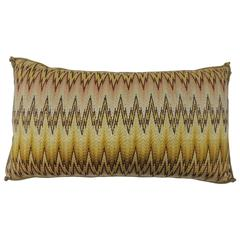 19th Century Italian Bargello Embroidery Bolster Decorative Pillow