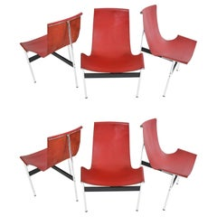 Set of Six T-Chairs by Katavolos, Littell and Kelly