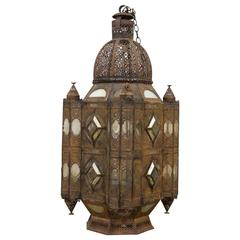 Large 19th Century Moroccan Hanging Lantern