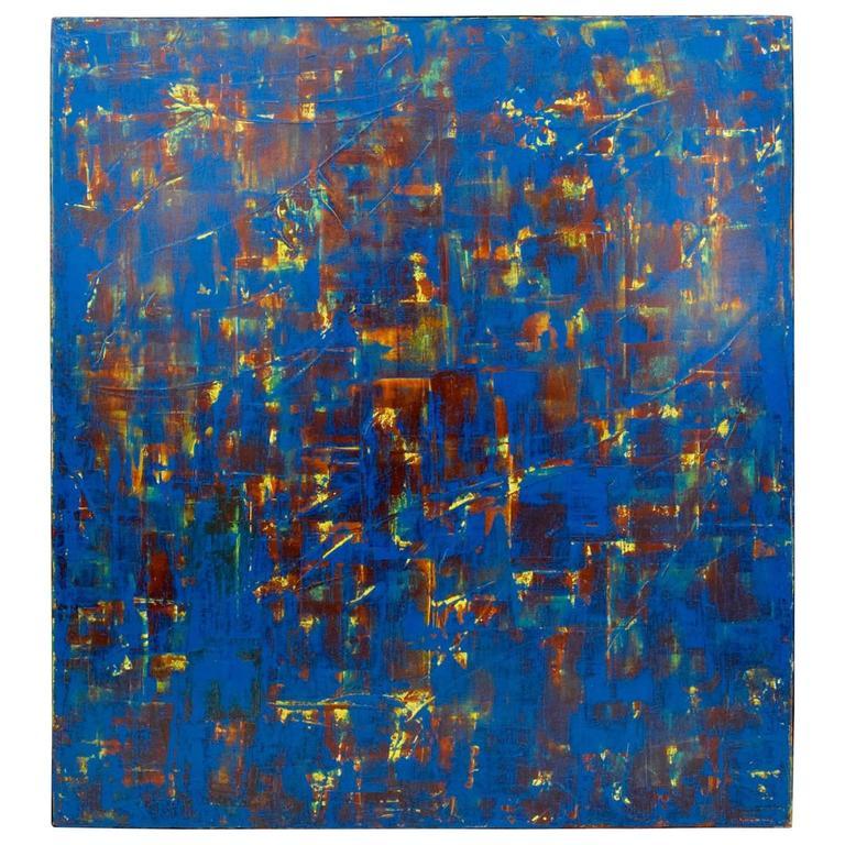 Large Orlanda Brugnola (1946 - 2016) Abstract on Canvas