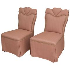 Pair of Sweetheart Salon Chairs