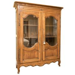 Glass Front French Armoire