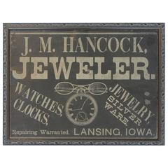 "1900s Advertising Tin Sign ""Jeweler"""