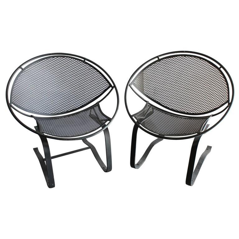 "Midcentury Garden Chairs ""Radar"" by Salterini"