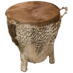African Hide Side Table