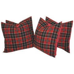 Pair of Red and Green Pendleton Plaid Pillows