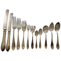 Van Dyke By International Sterling Silver Flatware Set Service, S Mono