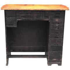 Industrial 1920s Maple Watchmaker's Desk