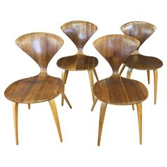 Set of Four Vintage Cherner Side Chairs for Plycraft