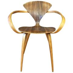 Walnut and Birch Vintage Cherner Armchair for Plycraft