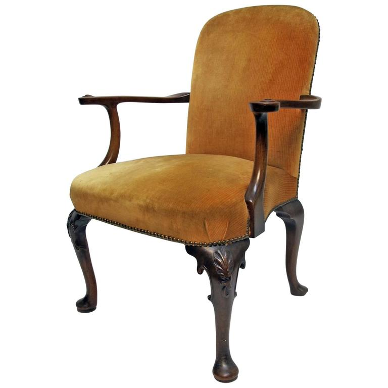 Queen Anne Style Armchair at 1stdibs