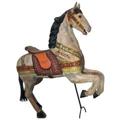 19th Century Carved and Painted Carousel Horse