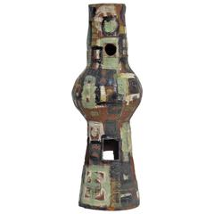 Mid-Century Modern Glazed Terracotta Sculpture