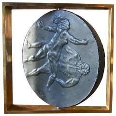Italian Sculpture in Slate and Brass